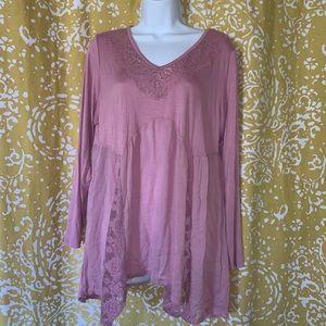 NWT Avenue Boho Pink Top Size 14/16